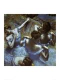Blue Dancers Plakater af Edgar Degas