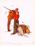 Careful Aim Kunstdruck von Norman Rockwell