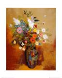 Blomsterbuket, Bouquet of Flowers Plakat af Odilon Redon