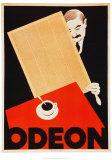 Cafe Odeon Kunst av Hugo Laubi