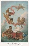 Cherubini intenti a studiare Stampe di Tim Ashkar