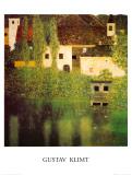 Castello Sul Lago Atter Posters por Gustav Klimt