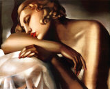 Dormeuse, c.1932 Prints by Tamara de Lempicka