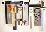 Deux Points Verts Poster par Wassily Kandinsky
