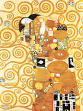 Fulfillment, Stoclet Frieze, c.1909 Julisteet tekijänä Gustav Klimt