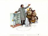 Expert Salesman Pôsters por Norman Rockwell