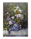 Florero primaveral Lámina por Pierre-Auguste Renoir