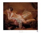 Girl Resting Plakater af Francois Boucher