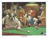 Giocatori di biliardo Poster di Arthur Sarnoff