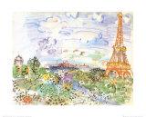 La Tour Eiffel, c.1935 Plakat av Raoul Dufy