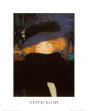 Lady with Hat Print van Gustav Klimt