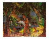 Mann im Park Kunstdrucke von Auguste Macke
