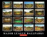Major League Ballparks: National League Prints by Ira Rosen