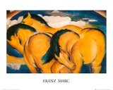 Little Yellow Horses, c.1912 Poster por Franz Marc