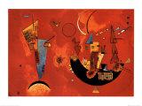 Mit und Gegen, ca.1929 Kunstdruck von Wassily Kandinsky