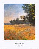 Oat Fields Kunst af Claude Monet