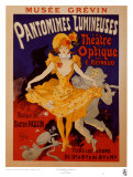 Pantomimes Lumineuses Poster por Jules Chéret