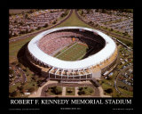 RFK Stadium - Washington Redskins World Champions 1991 Poster av Mike Smith