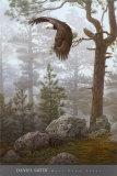 In Nebel gehüllter Wald (Ausschnitt) Kunstdruck von Daniel Smith