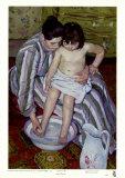 Badet Plakater af Mary Cassatt