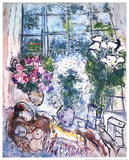 Das weiße Fenster Kunstdrucke von Marc Chagall