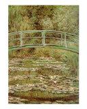 A ponte japonesa Arte por Claude Monet