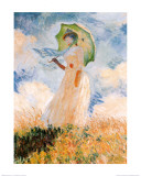 Woman With Umbrella Print van Claude Monet