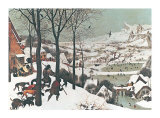 Winter/Hunters in the Snow Affiche par Pieter Bruegel the Elder