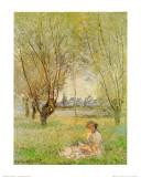 Woman Under the Willows Kunst van Claude Monet