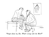 """""""Forget about me, Doc.  What's wrong with the Mets"""" - New Yorker Cartoon Premium Giclee Print by Al Ross"""