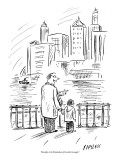 """""""Brooklyn is the Manhattan of the other boroughs."""" - New Yorker Cartoon Premium Giclee Print by David Sipress"""