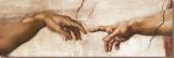 Michaelangelo's Creation of Adam Bedruckte aufgespannte Leinwand von  Michelangelo Buonarroti