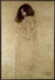 Portret van jonge vrouw, ca. 1896 Ingelijste gicléedruk van Gustav Klimt