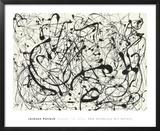 Número 14, Gris Láminas por Jackson Pollock