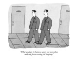 """""""What you lack in business savvy you more than make up for in owning the c…"""" - New Yorker Cartoon Premium Giclee Print by Peter C. Vey"""