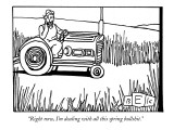 """""""Right now, I'm dealing with all this spring bullshit."""" - New Yorker Cartoon Premium Giclee Print by Bruce Eric Kaplan"""