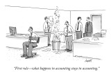 """First rule—what happens in accounting stays in accounting."" - New Yorker Cartoon Premium Giclee Print by Tom Cheney"