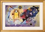 Amarelo, vermelho e azul, cerca de 1925 Pôsteres por Wassily Kandinsky