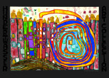 Who Has Eaten All My Windows Print by Friedensreich Hundertwasser
