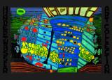 Blå måne Posters av Friedensreich Hundertwasser