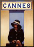 Vertrek uit Eden, vrouw zit klaar om uit Cannes af te reizen Kunst op hout van Vettriano, Jack