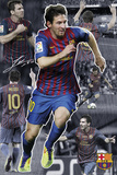 Barcelona, collage van Messi Poster