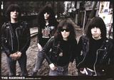 Ramones-Amsterdam 1977 アートポスター