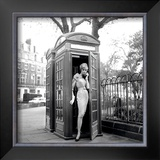 Lucinda in a Telephone Box, London, 1959 Prints by Georges Dambier