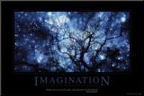 Imaginação, em inglês Impressão montada