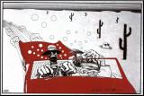 Angst und Schrecken in Las Vegas Druck aufgezogen auf Holzplatte von Ralph Steadman
