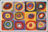 Estudo de cor quadrado, cerca de 1913 Impressão montada por Wassily Kandinsky