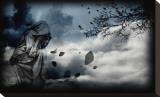 Heavenly Sad Bedruckte aufgespannte Leinwand von Blake Votaw