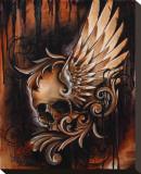 Winged Skull Bedruckte aufgespannte Leinwand von Manuel Valenzuela