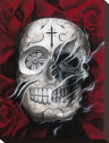 Rosa Muerte Stretched Canvas Print by Carlos Torres